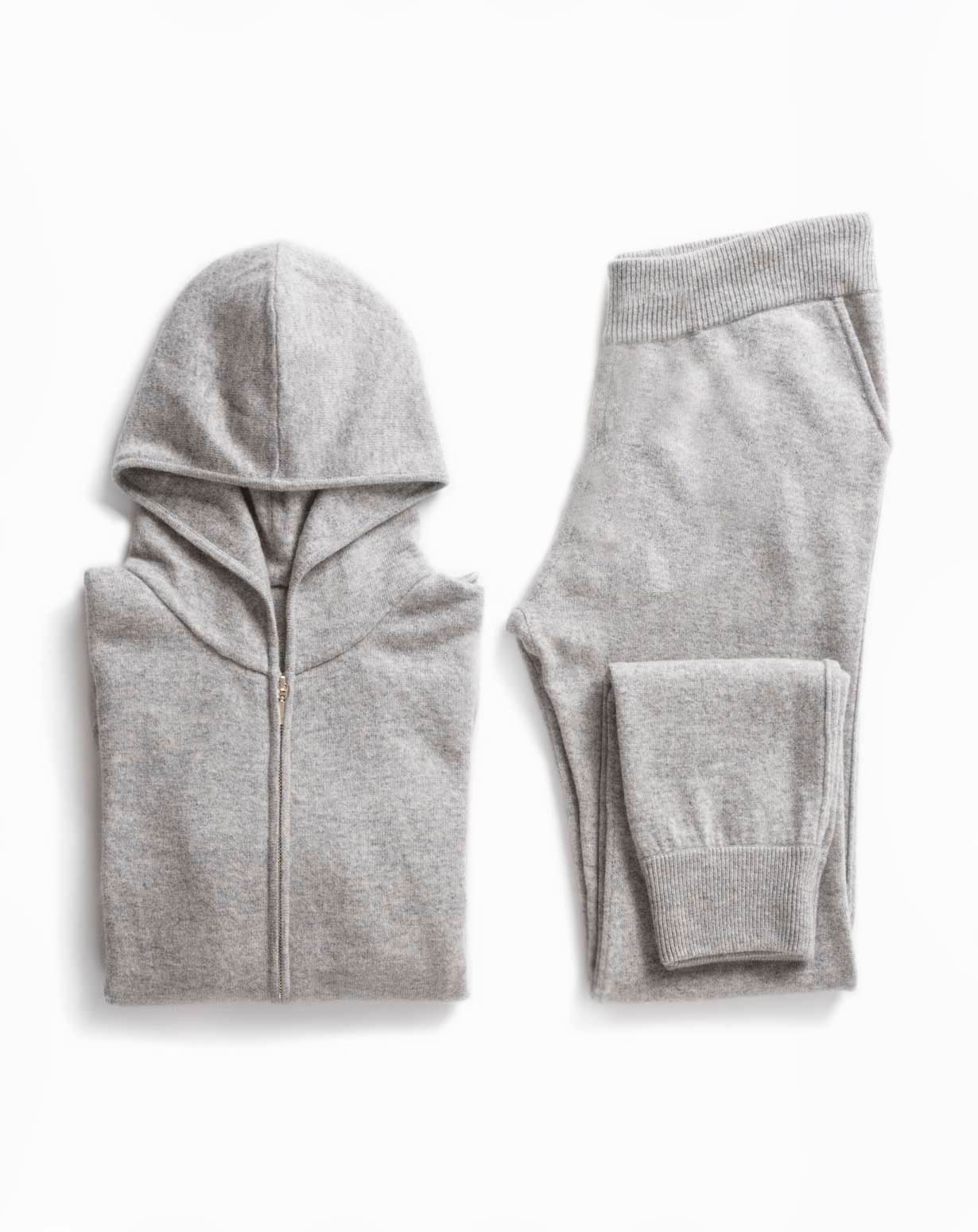 Women's Weekend Set - Cashmere Zip Hoodie & Pants