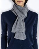 Pure Cashmere Plain Knit Scarf