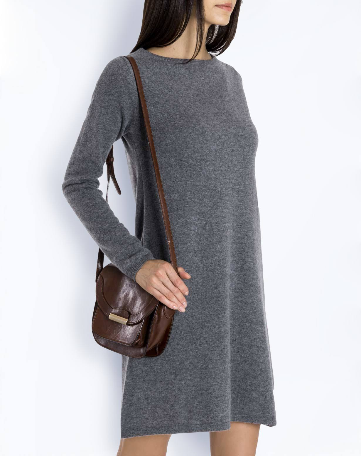 Ladies' Pure Cashmere Boat Neck Dress