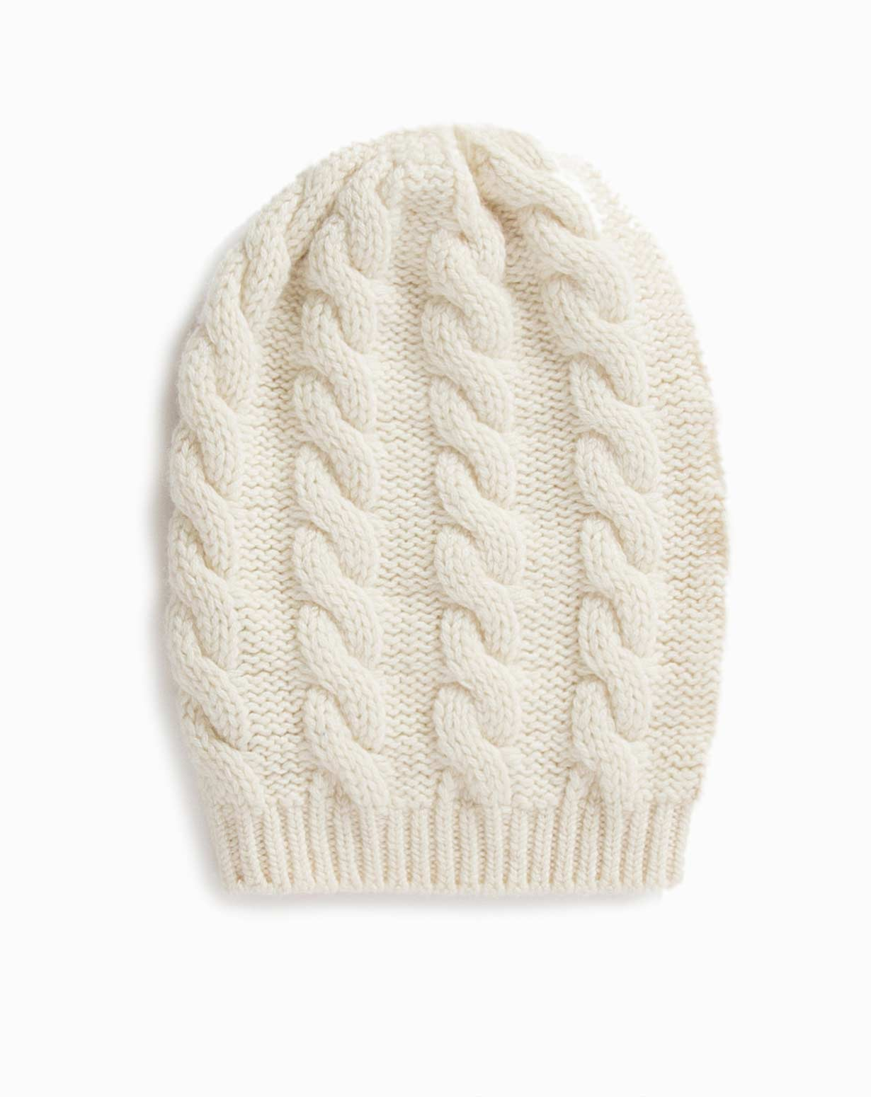 Ladies Cashmere Cable Knit Beanie