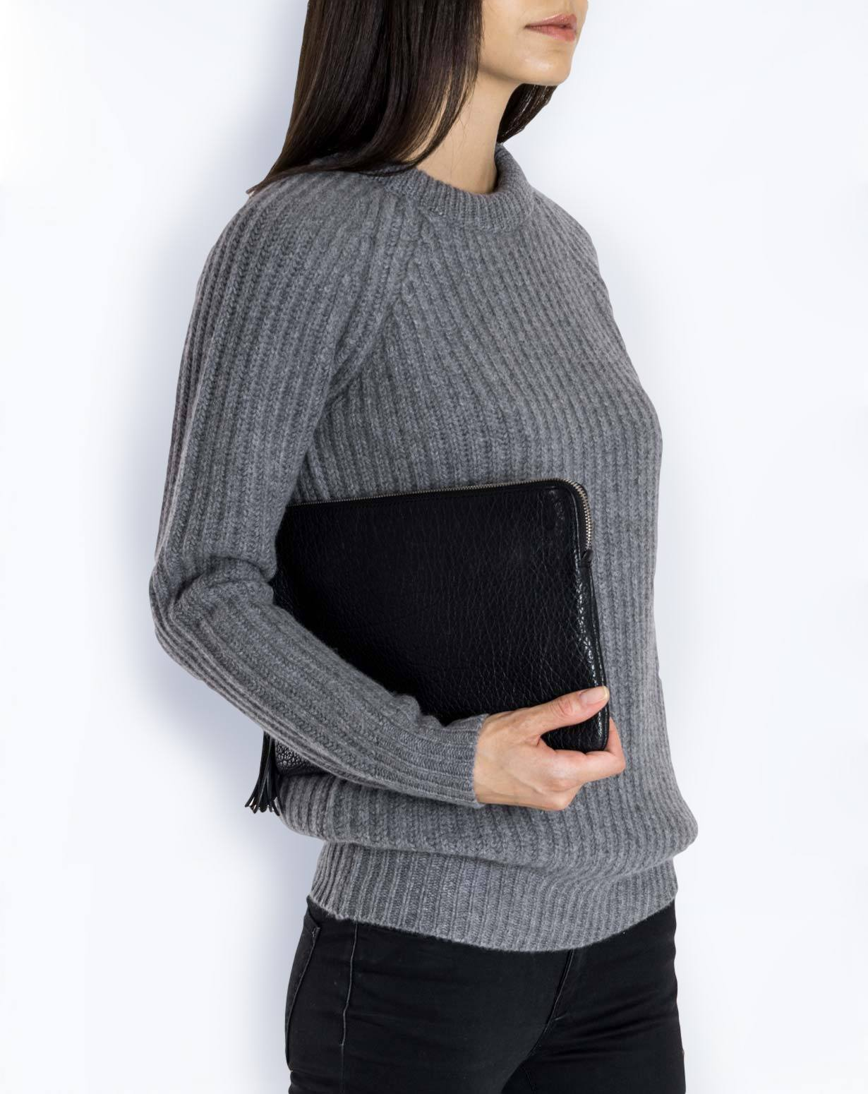 Ladies' Pure Cashmere Chunky Crew Neck