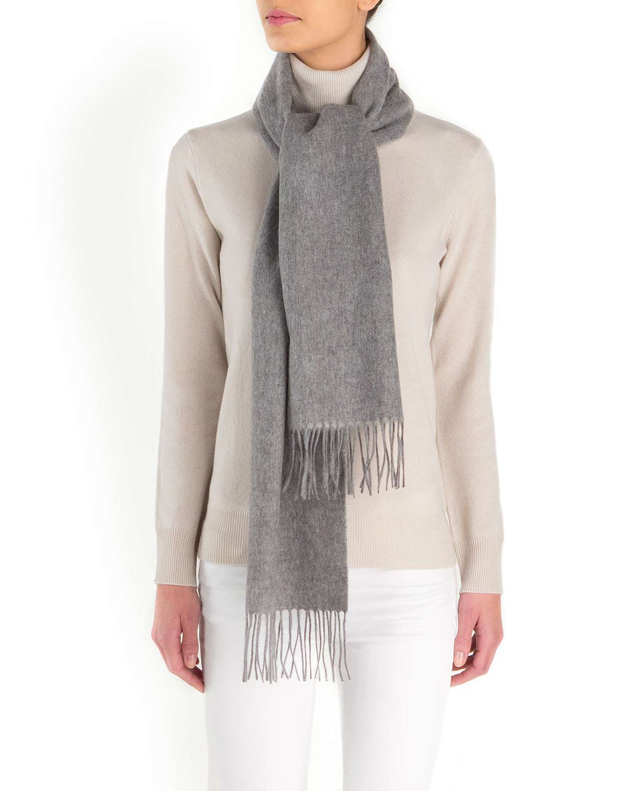 Women's Bicolor Woven Cashmere Scarf