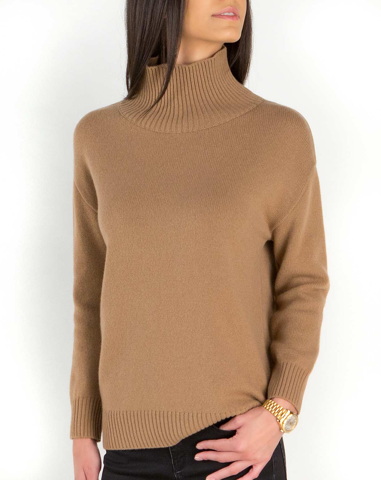Lambswool & Cashmere Women's Funnel Neck Sweater
