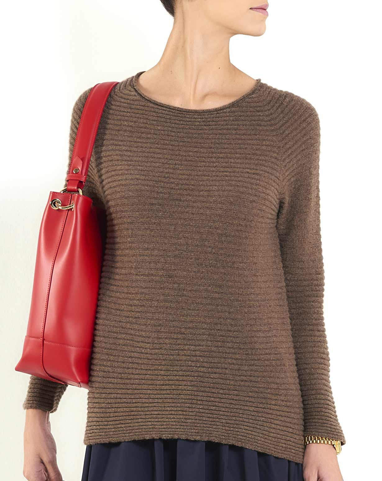Women's Cashmere Rib Boat Neck Sweater