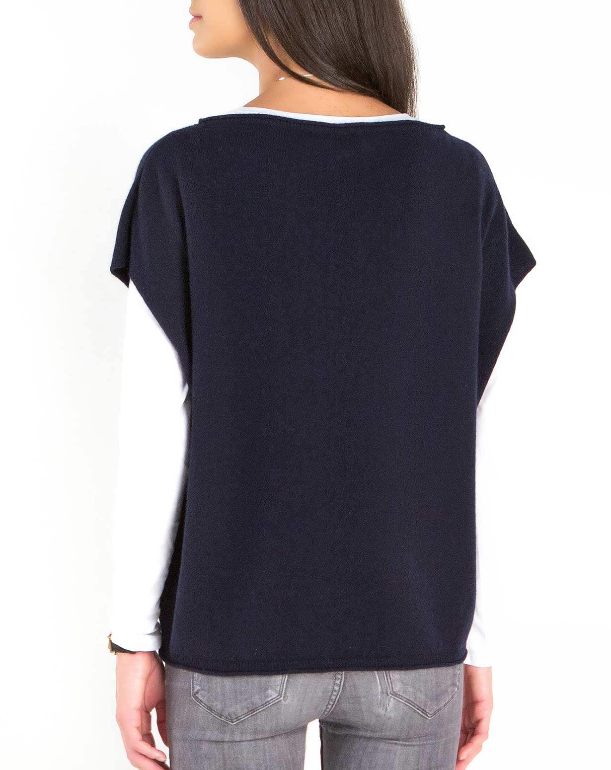 Women's Oversized Short Sleeve Sweater | MaisonCashmere