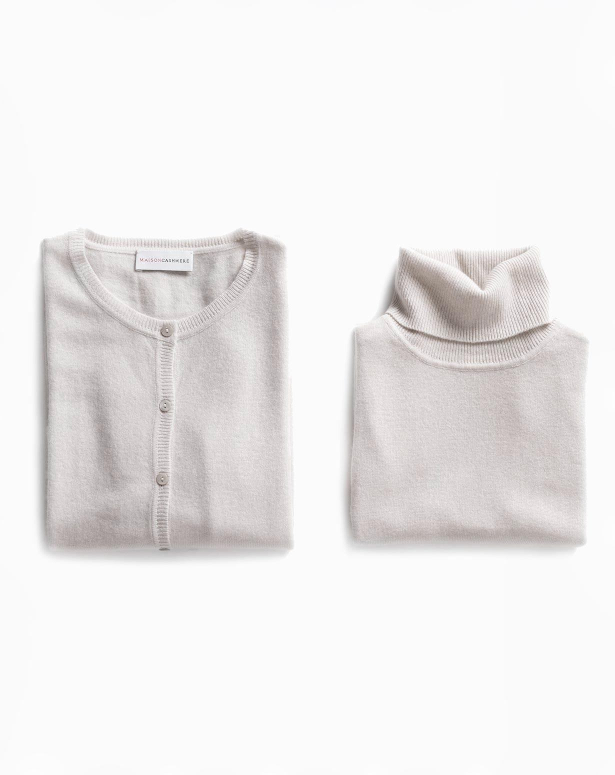 Women's Powder Twinset - Cardigan & Turtleneck Vest