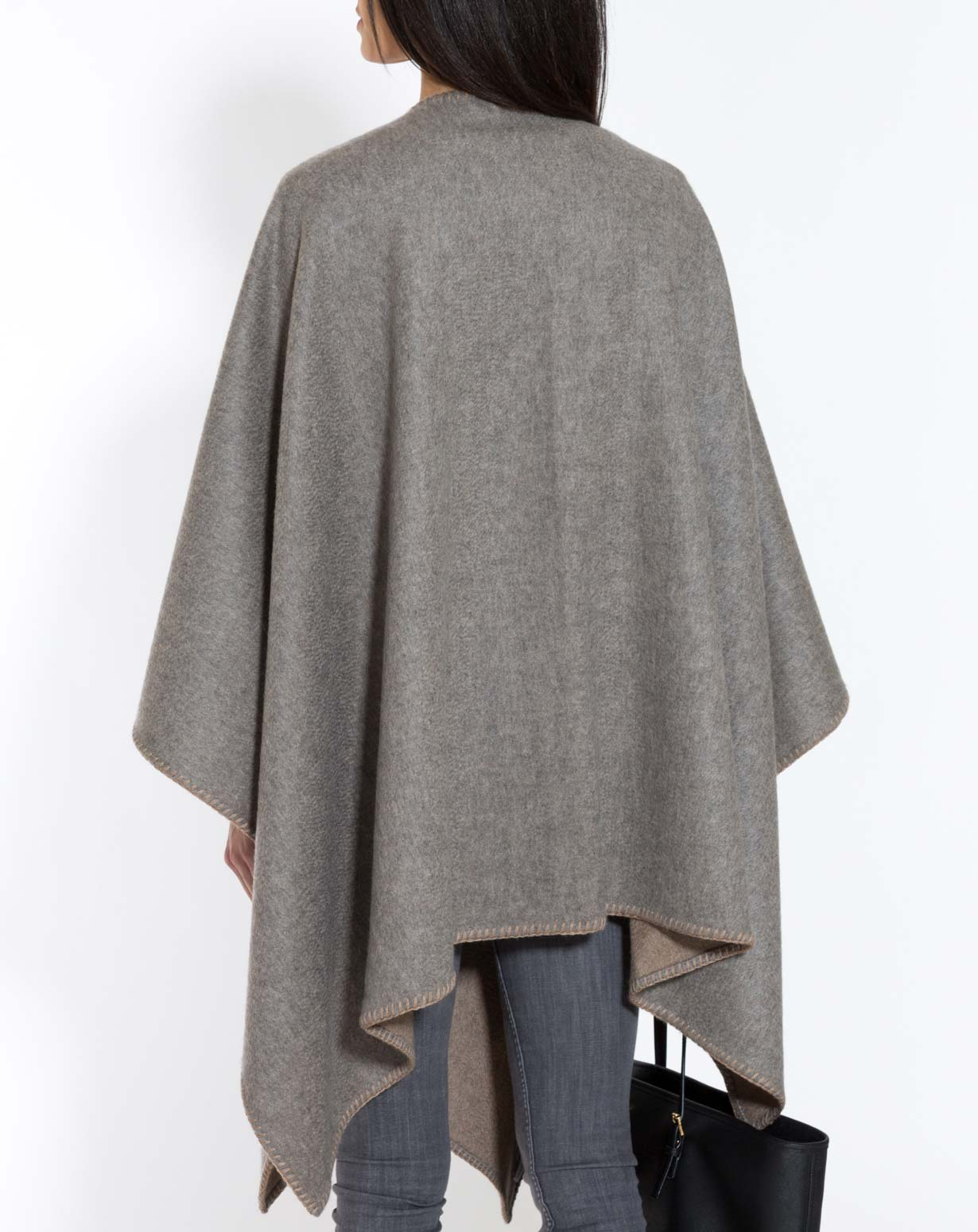 Pure Cashmere Double Faced Cape Maisoncashmere