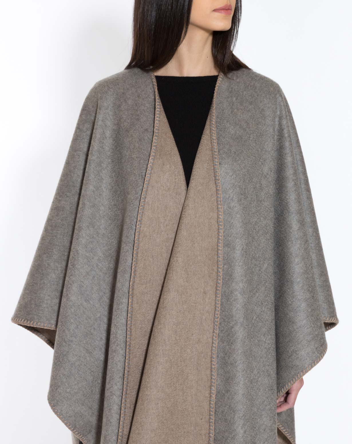 Pure Cashmere Double-Faced Cape