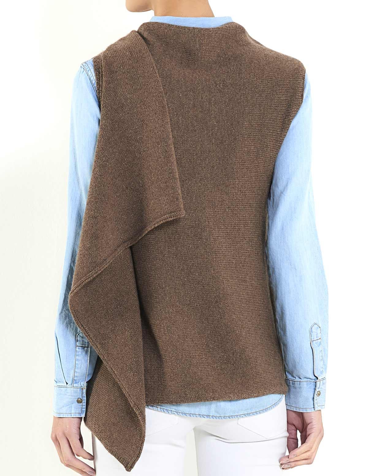 Women's Cashmere 3 Hole Wrap Vest | MaisonCashmere