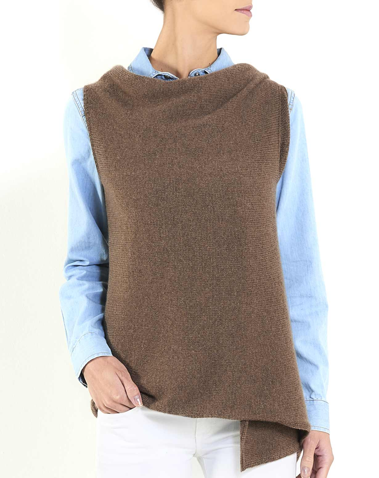 "Women's Pure Cashmere ""3 Hole"" Wrap Vest"