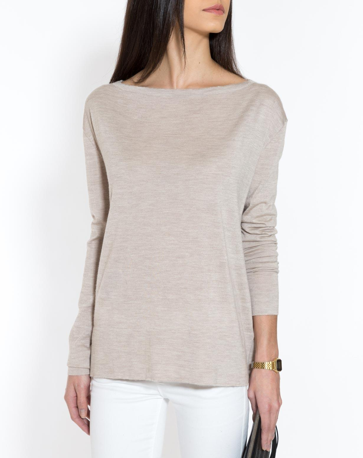 Women's Silk Cashmere Boat Neck Sweater