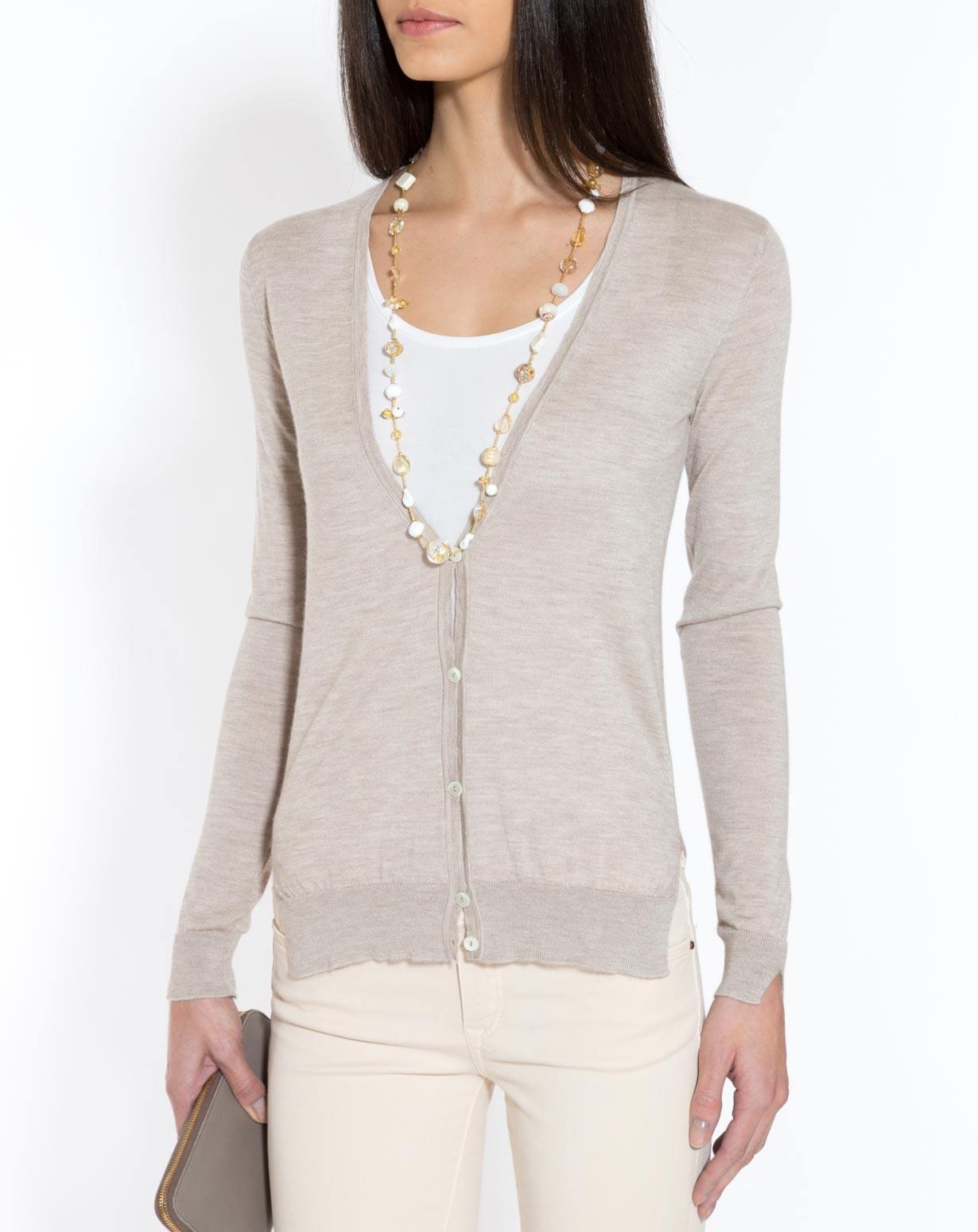 Women's Silk Cashmere V-Neck Cardigan