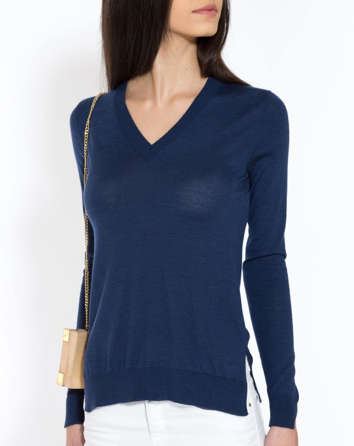 Ladies' Silk Cashmere V-Neck Jumper