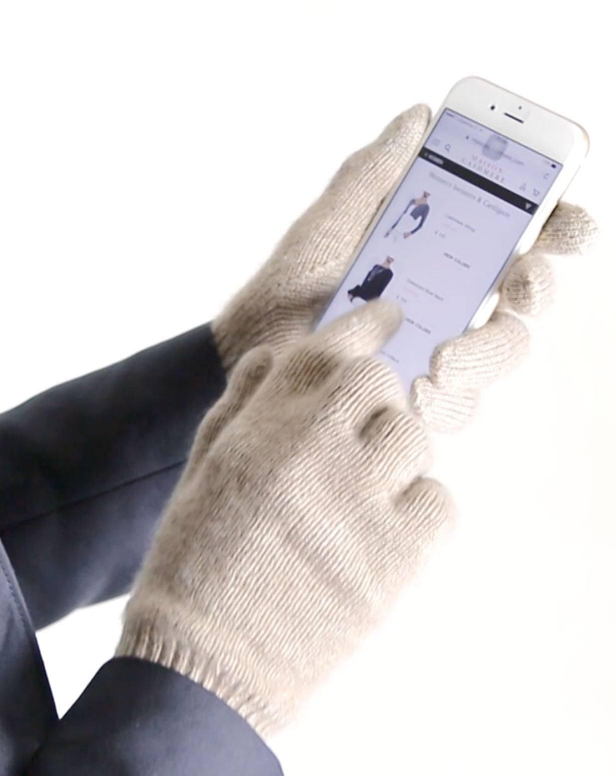 Touchscreen - Handschuhe aus reinem Cashmere