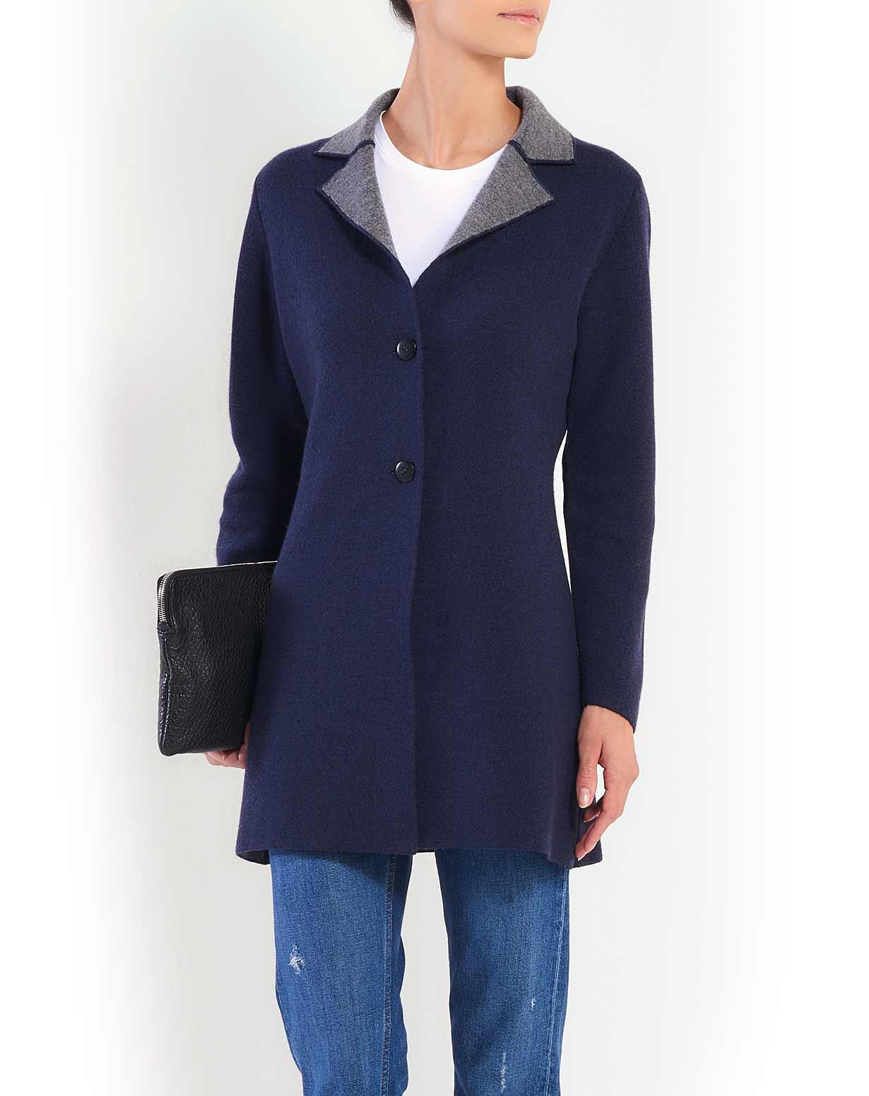 Ladies' Reversible Merino & Cashmere Coat