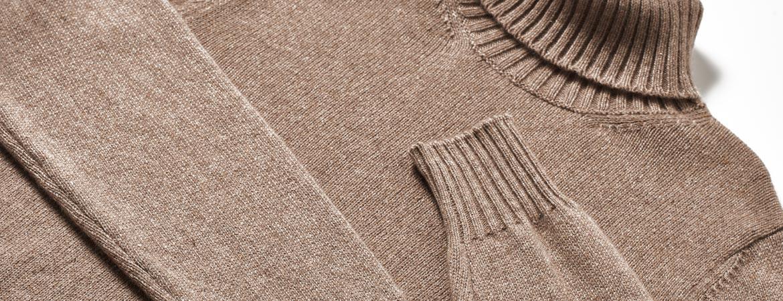 Mens Thick Knit Cashmere Turtleneck