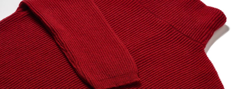 women pure cashmere fisherman rib turtleneck 3-4 sleeve