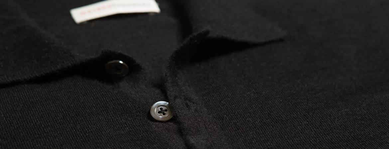 Men's Silk Cashmere Short Sleeve Polo Shirt