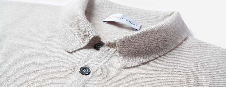 men's cashmere polo shirt