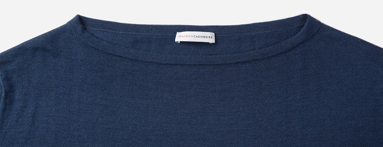 women's silk cashmere boat neck
